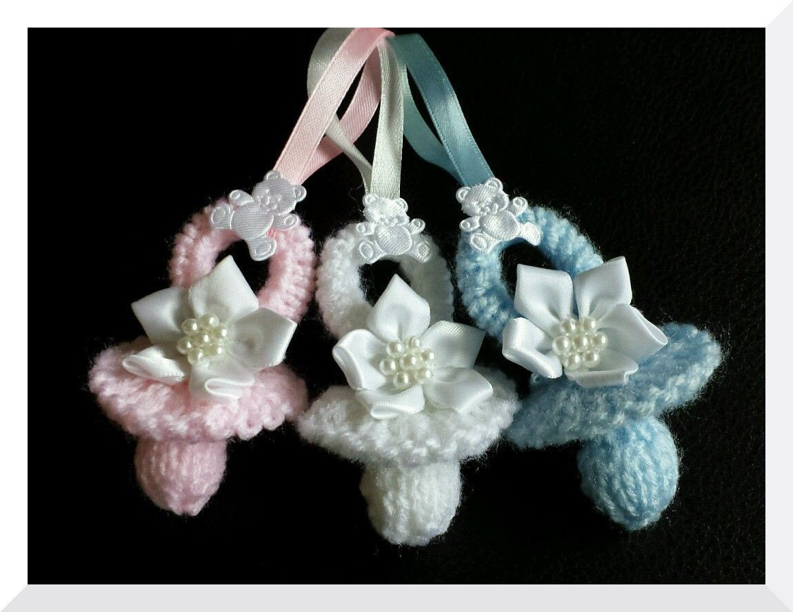 babys dummy pram charm knitting pattern