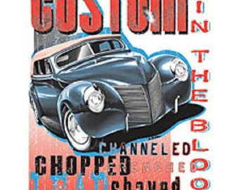 Custom Hot Rod Shop Chopped Channeled Shaved T-shirt 100% Cotton  S-XXXL