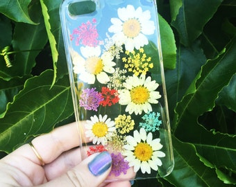 Dried White and Bright Flowers Phone Case
