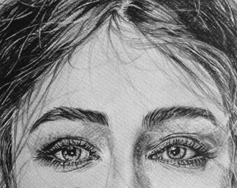 Custom portrait - graphite pencil drawing