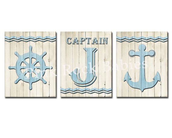Nursery Wood Wall Decor : Nursery wood wall art nautical decor baby boy room decoration