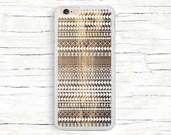 iPhone 6 Case, iPhone 6 Plus Case - Tribal Ornament on Wood Texture