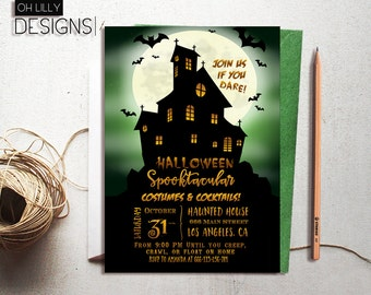 Halloween Invitation Printable, Halloween Party Invites, Adult Halloween Party Invitation, Printable Invitation, Halloween Spooktacular