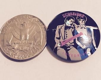 "Super RARE Vintage Scorpions ""Lovedrive"" 1"" Pin - Great Condition!"