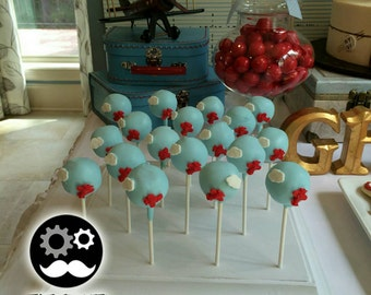 Hand made low profile white wood cake pop / lollipop push pop stand, low profile with side details for capacity of 18 pops