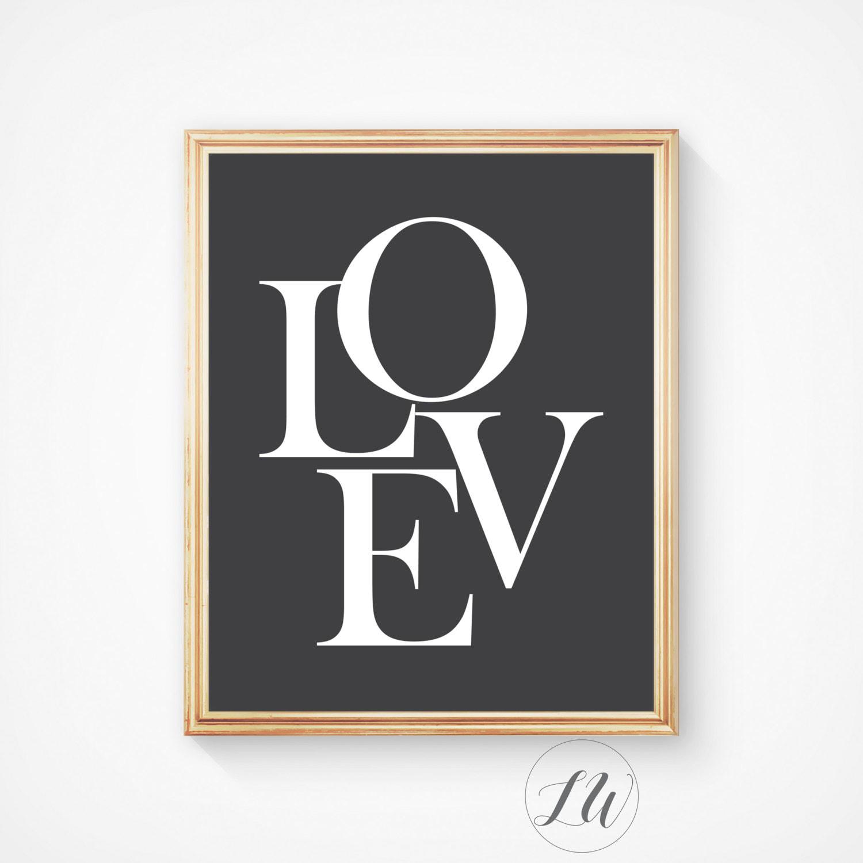 love art prints love print love wall art nursery print. Black Bedroom Furniture Sets. Home Design Ideas