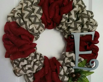 Ohio State Buckeyes Wreath - Decorative Burlap Wreath