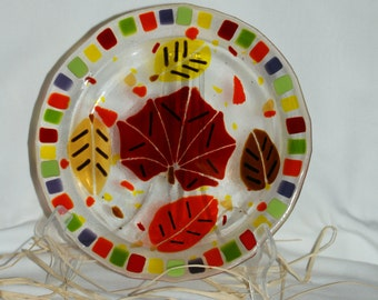 Fused Glass Fall Plate