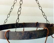 Vintage Pot Rack, Pot Rack, Iron Pot Rack, cast iron, Country Kitchen, Rustic Kitchen