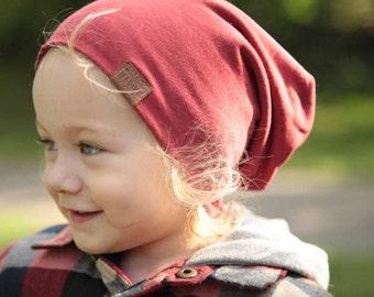 Bambeanie - Nova Red - Slouchy beanie - Slouchy hat - Bamboo hat - Kids hat