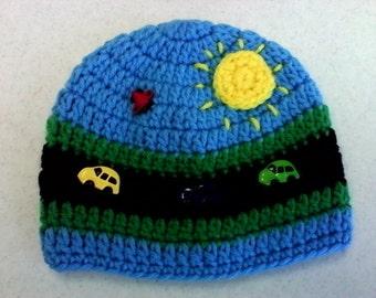 Crochet Baby Boy Beanies = 2 Choices