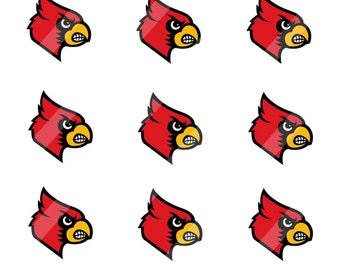 Cardinals digital collage sheet 4x6 1 inch round for bottle cap   INSTANT DOWNLOAD