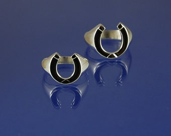 Horseshoe ring hand-made to size in solid 925 sterling silver.  Available for men and women