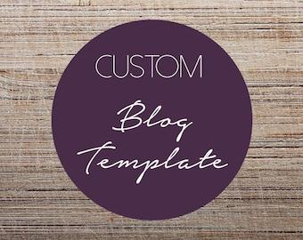 CUSTOM BLOG TEMPLATE Design- Blog, Branding, Template Design