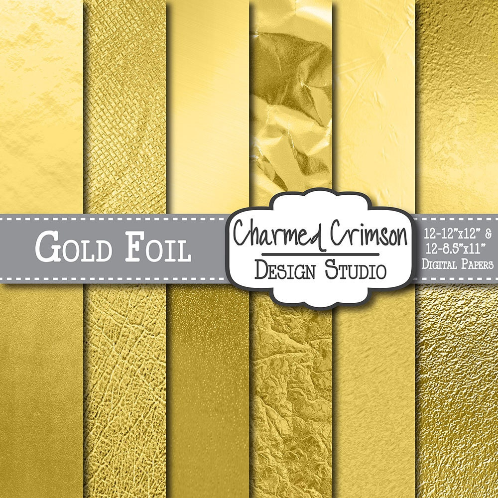 SALE 50% OFF-Metallic Gold Paper Gold Digital by ...