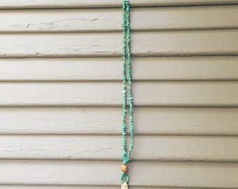Turquoise Wooden Feather