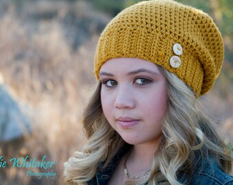 Slouchy Beanie - crochet made to order -