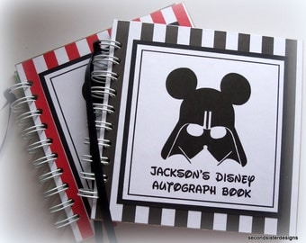 PERSONALIZED Disney Autograph Book Scrapbook Travel Journal Vacation Photo Album