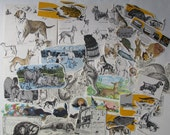 animal themed ephemera for junk journals, smash books, collages, card making, project life, art journals and more