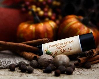 Pumpkin Vegan Lip Balm//organic lip balm//vegan lip balm//natural lip balm//pumpkin lip balm//lip balm//handmade lip balm//organic//natural