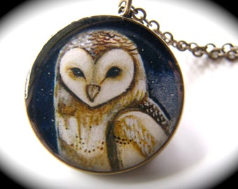 Barn Owl or Pueo Necklace