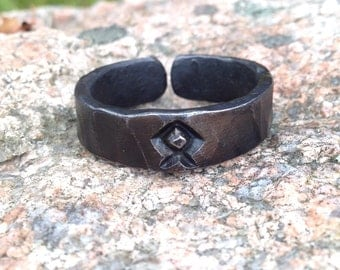 Viking ring, hand forged