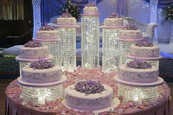 how big should a wedding cake stand be set of 9 acrylic asian style chandelier cake 15359