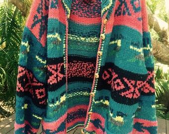Vintage 70s chunky knit cardigan