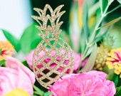Pineapple Cake Toppers, Tropical, Acrylic, Laser Cut