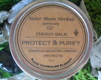 Protect & Purify Balm - Black Tourmaline - Protection - Quartz - Purification - Energy Balm