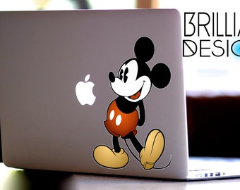 Mickey Mouse, Classic Mickey Mouse decal , sticker for Apple Computer MacBook Pro, MacBook Air, MacBook, Gift, For her, geekery