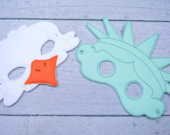 Celebrate America Children's Felt Mask Set  - Costume - Theater - Dress Up - Halloween - Face Mask - Pretend Play - Party Favor