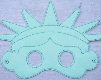 Liberty Children's Felt Mask  - Costume - Theater - Dress Up - Halloween - Face Mask - Pretend Play - Party Favor