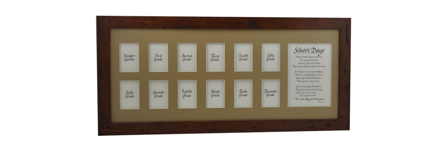 10x24 School Days Wooden Picture Frame K 12 13 Openings