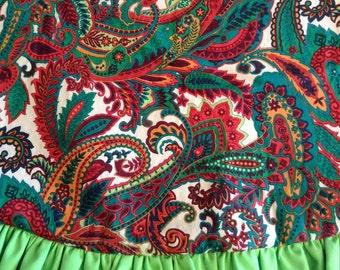Paisley Christmas tree skirt