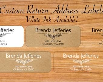 Custom Return Address Labels - Custom Clear Labels - Clear Address Labels - Kraft Address Labels - Wedding Address Labels