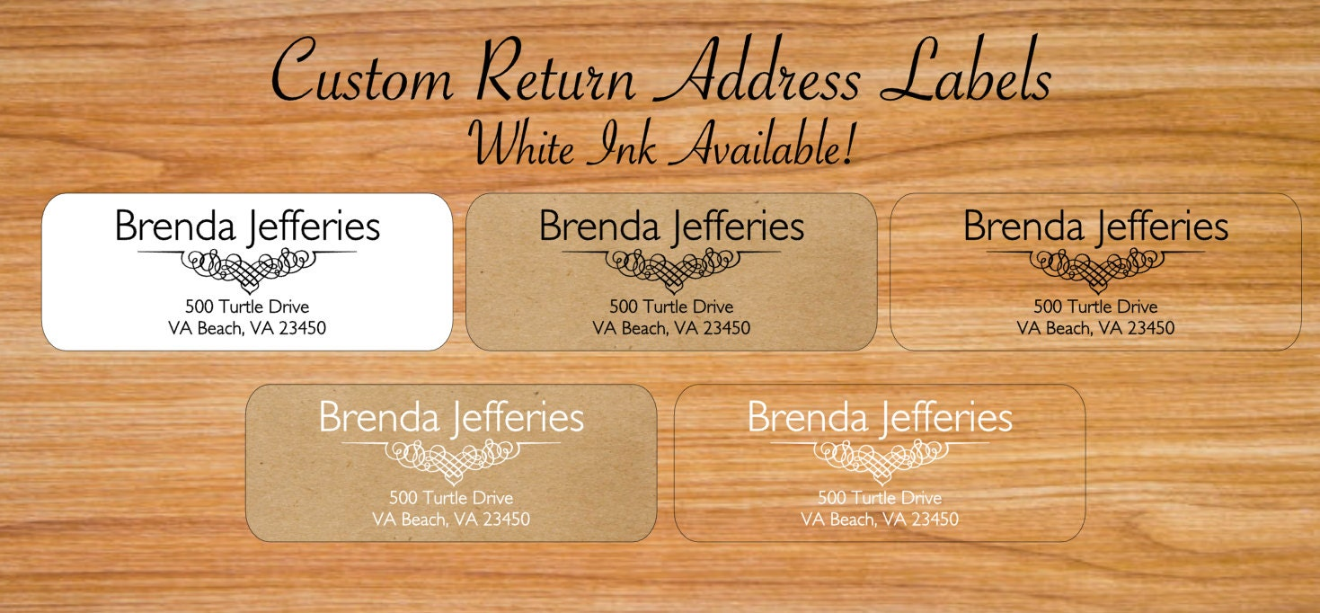 custom return address labels custom clear labels clear With clear personalized return address labels