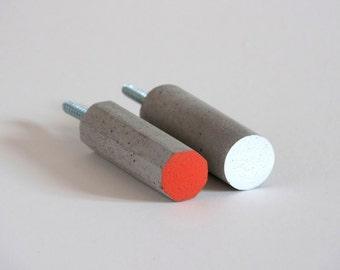 Concrete wall hook/Coat hook/Towel hook/Hanger/Storage/Holder/Peg/Wall mount/Beton/Nursery/Industrial/Minimalist/Rustic/Decor/Gift/2 HOOKS