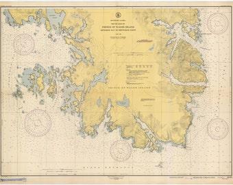 Prince of Wales Island - Alaska Historical Map 1934
