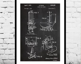 Toilet Patent, Bathroom Patent, Toilet Poster, Bathroom Poster, Toilet Blueprint,  Toilet Print, Toilet Art, Toilet Decor, Bathroom Decor