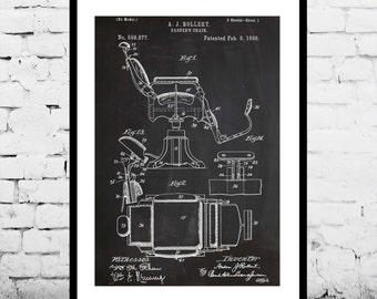 Barber Chair Patent, Barber Chair Poster, Barber Chair Print, Barber Chair Art, Barber Chair Decor, Barber Chair Blueprint, p039