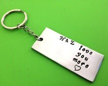 FREE SHIPPING Customized Keychain,personalized keychain,handmade keychain Hand Stamped gifts,best friend gifts,wedding anniversary keychain