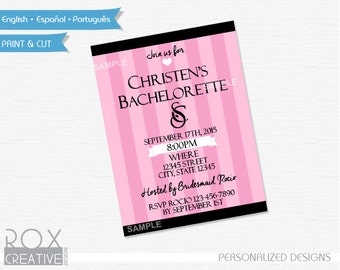Victoria's Secret 5 x 7 Invitation Design, Custom Design, Bachelorette Party Invitation