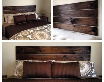 Floating Headboard....No drilling, screwing, or hammering required! Rustic Headboard, Summer Decor, Spring Decor