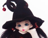 Felted hat Halloween for PukiFee, Aquarius, Lati Yellow (size 5-6)
