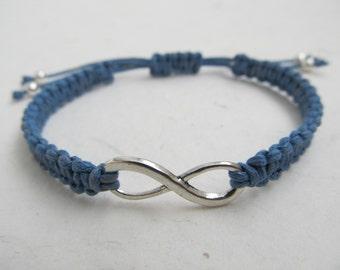 Infinity bracelet, macrame bracelet, macrame bracelet infinity
