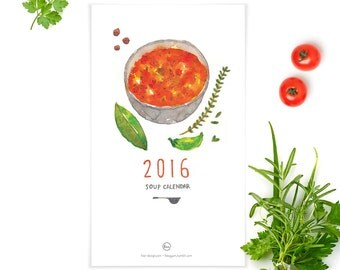 2016 Watercolor Soup Calendar