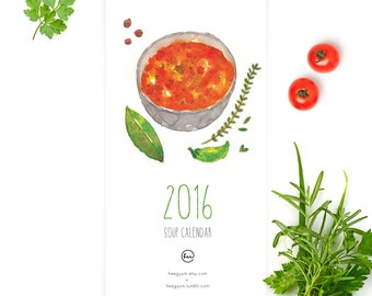 2016 Watercolor Soup Calendar (M)