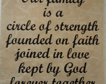 Our family is a circle ceramic tile-FREE SHIPPING