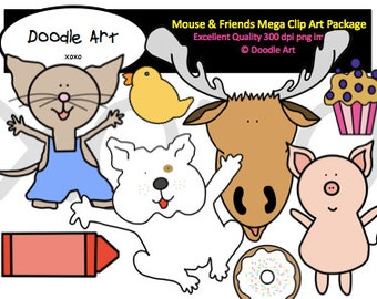 if you give a mouse a cookie mouse friends mega clipart pack